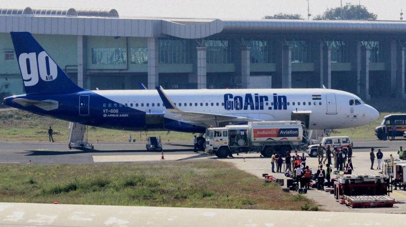 GoAir puts 85-90% staff on leave without pay for entire duration of lockdown. (PTI Photo)