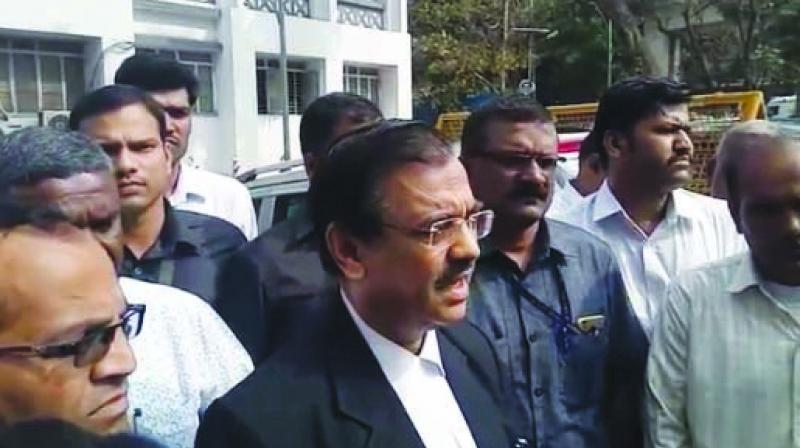 Advocate Ujjwal Nikam outside the Nashik court.