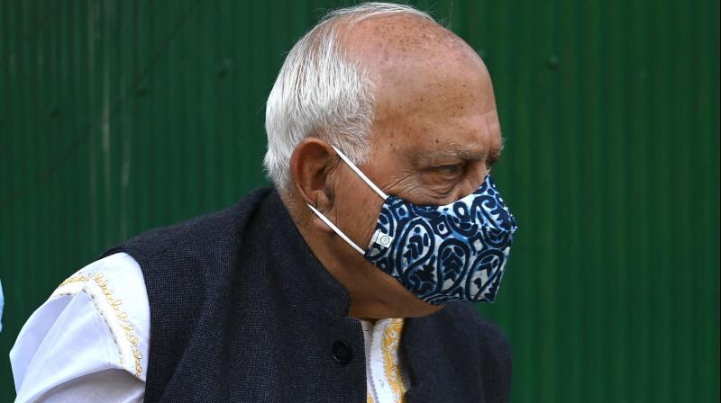 Former Jammu and Kashmir chief minister and National Conference (NC) president, Farooq Abdullah. (AFP)