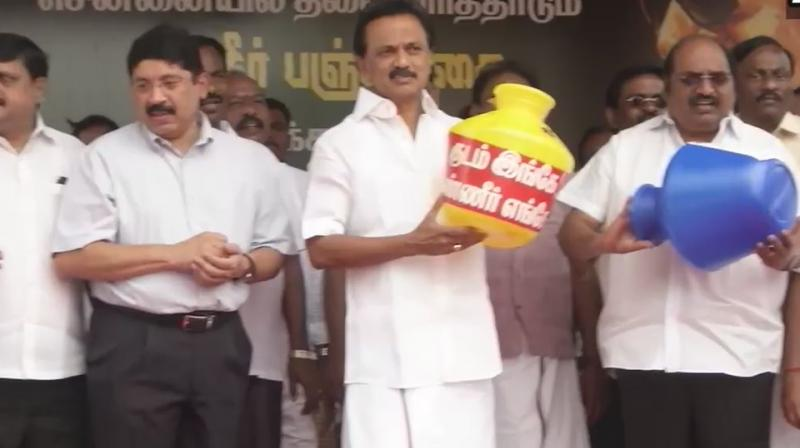 Dravida Munnetra Kazhagam (DMK) on Saturday began a statewide over actue water crisis issue. (Photo: File)