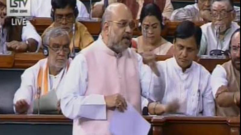 He also moved the Jammu and Kashmir Reservation (Amendment) Bill that proposes to provide reservation to people living in the areas along the border with Pakistan on par with residents of areas near the Line of Actual Control. (Photo: ANI)
