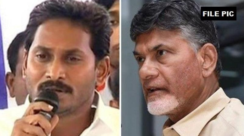 Telugu Desam Party (TDP) chief N Chandrababu Naidu and chief minister YS Jaganmohan Reddy.