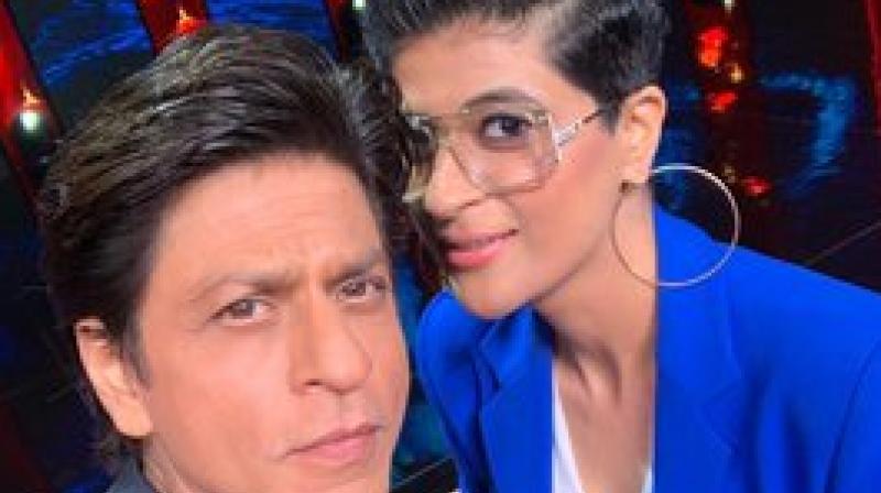 Shah Rukh Khan and Tahira Kashyap. (Photo: Twitter)