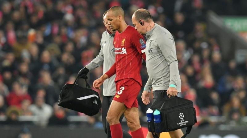 Fabinho, who has this season established himself as a first-choice pick for Jurgen Klopp's Premier League leaders, was substituted after just 18 minutes of the 1-1 draw at Anfield on Wednesday. (Photo: AFP)