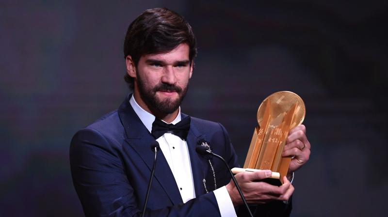 Earlier this year, Allison Becker was named as the Champions League Goalkeeper of the Season and Best FIFA Men's Goalkeeper. (Photo: AFP)