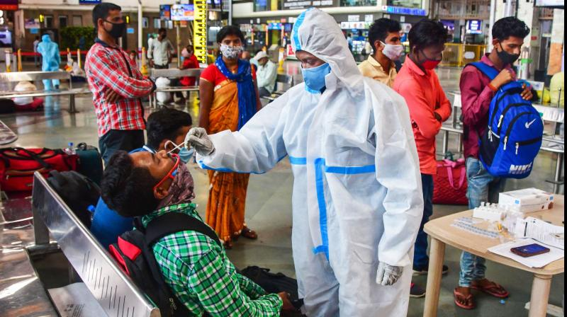 Senior officials in the Union health ministry said there is no need to panic as the government has ensured that there is no shortage of Covid-19 vaccines in the country. (PTI file photo)