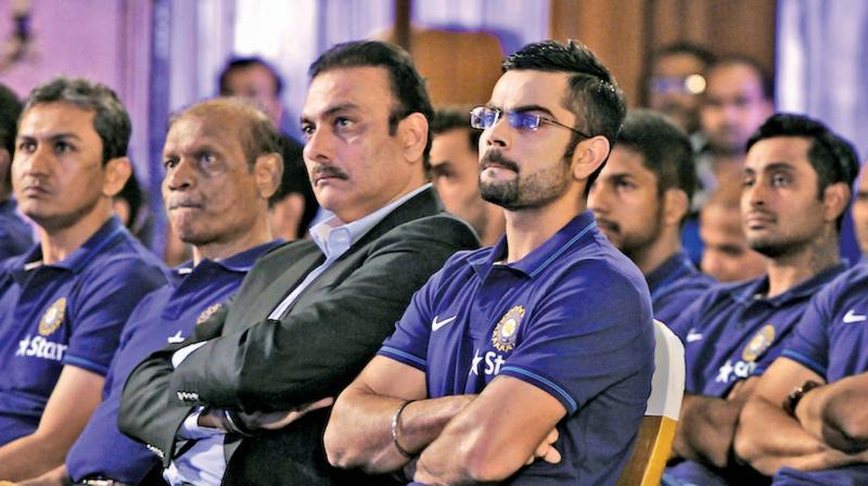 A file photo of Virat Kohli and Ravi Shastri.