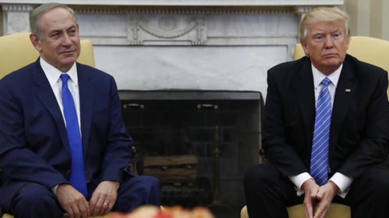 US President Donald Trump with Israel's PM Benjamin Netanyahu. (Photo: AP)
