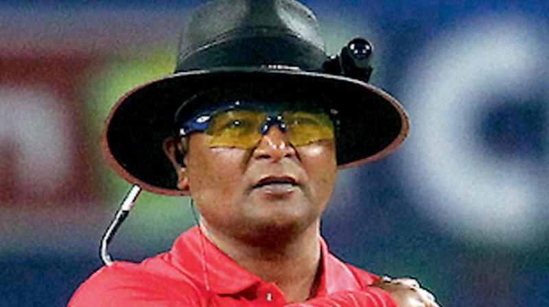 Hyderabad cricket umpire C Shamshuddin. DC Photo