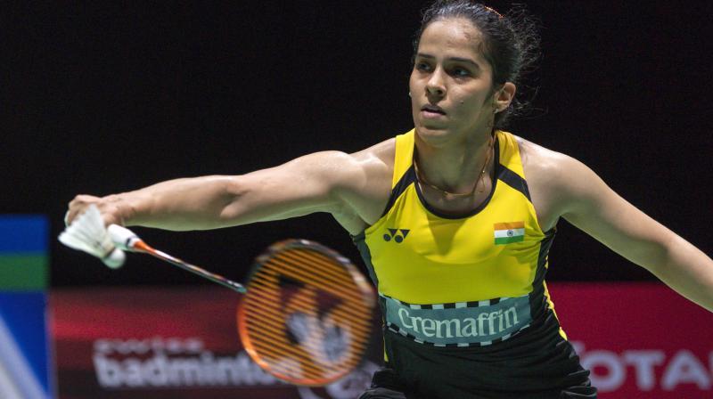 AIMING HIGH: Saina Nehwal. AP Photo