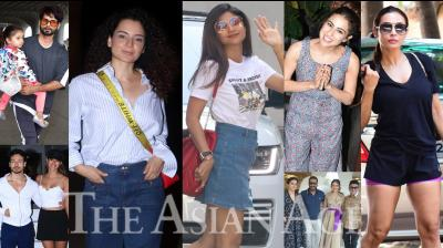 Bollywood celebrities like Ajay Devgn, Tabu, Rakul Preet, Malaika Arora, Shahid Kapoor, Kangana Ranaut, Sara Ali Khan, Shilpa Shetty Kundra and others snapped in the city of dreams, Mumbai. (Photos: Viral Bhayani)