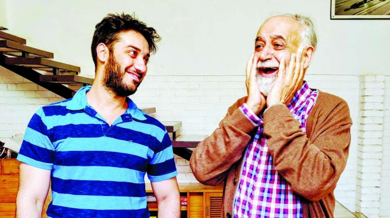 Aakash Prabhakar and M.K. Raina (L-R)