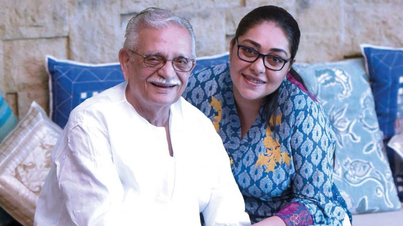 Meghna Gulzar with father Gulzar. (Photo: Raju Shelar)