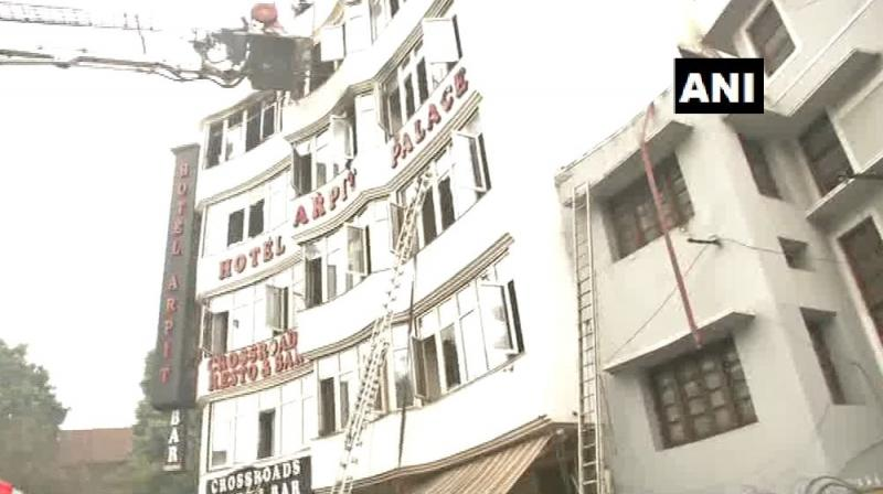 According to the fire department 35 people were rescued from the hotel. (Photo: ANI)