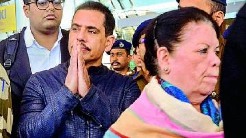 Newly-appointed Congress general secretary Priyanka Gandhi Vadra also flew to Jaipur from Lucknow last night to extend support to her husband and mother-in-law. (Photo: File)