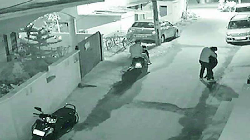 A screengrab of CCTV footage of the Bengaluru molestation case.