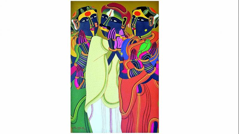 Painting by artist T. Vaikunthan