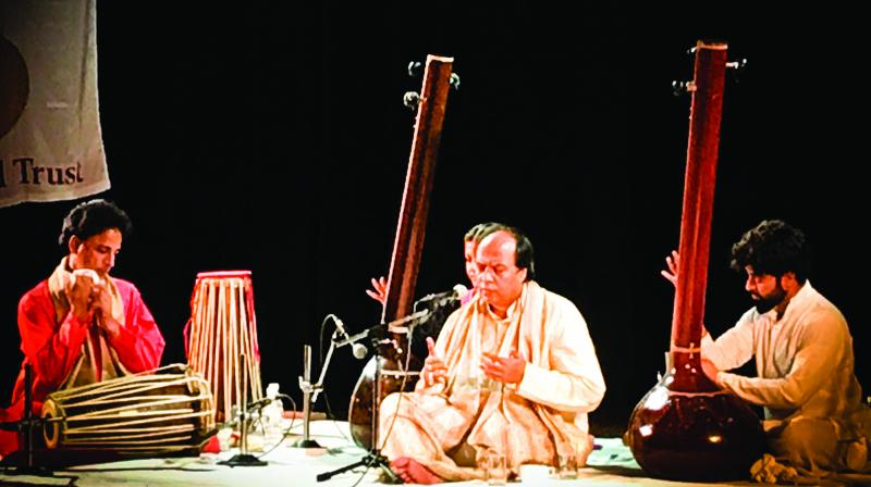 Padma Shri Ustad Faiyaz Wasifuddin Dagar gave a soulful rendition of a lifetime as he remembered his guru Ustad N Zahiruddin Dagar on his 25th death anniversary.