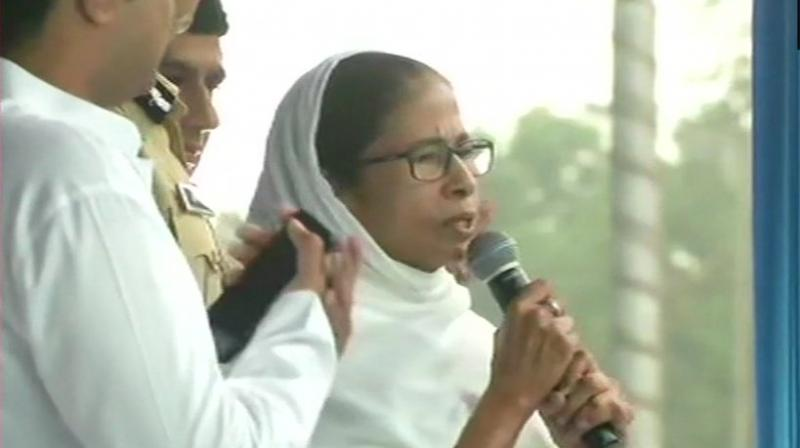 Banerjee and her Trinamool Congress had accused the BJP of unleashing terror and violence during polls and rigging EVMs or voting machines. (Photo: ANI   Twitter)
