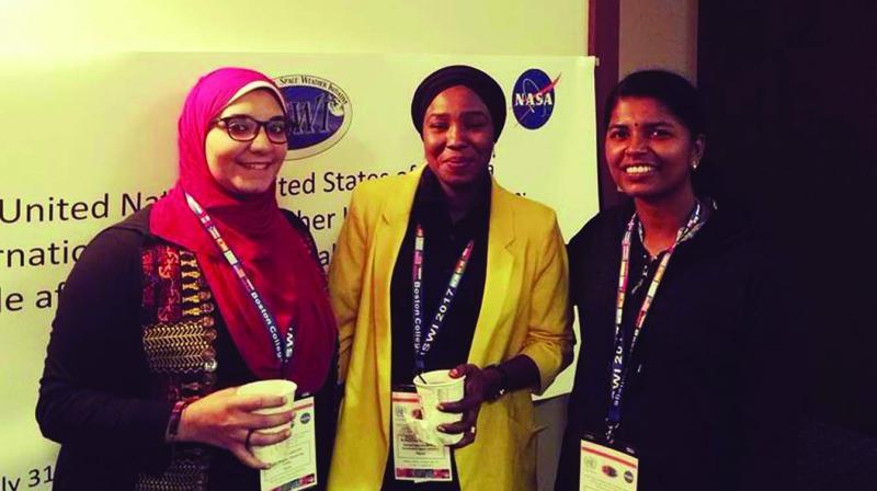 Ashna (right) at NASA