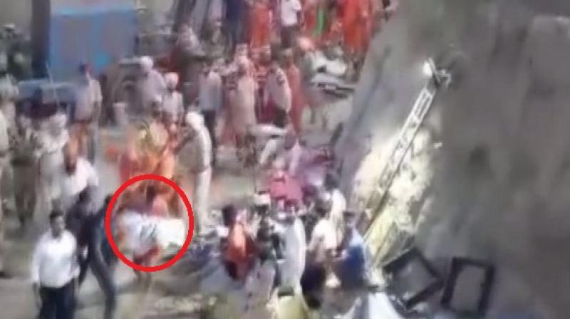 He was pulled out of the borewell on early Tuesday morning after a rescue operation of over 110 hours. (Photo: ANI)