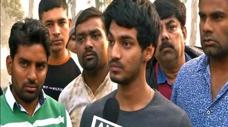 Abhishek told ANI, 'He wanted us to be a good citizen. He wanted us to be a person who doesn't incite violence in the name of religion.' (Photo: ANI)