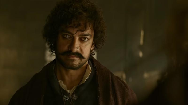 Aamir Khan in a still from 'Thugs of Hindostan.'