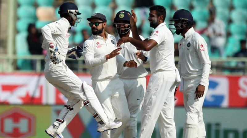 India reclaimed the advantage on the 4th day after Jadeja trapped Cook lbw for 54 on what turned out to be the last ball of the day. (Photo: BCCI)