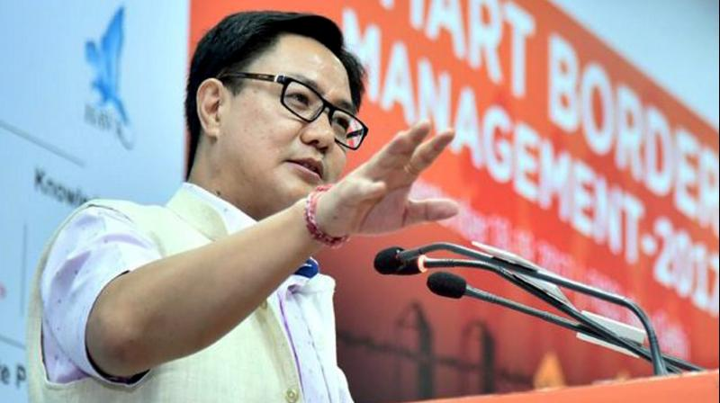 """Kiren Rijiju said that we are moving forward with new thinking for sports and for their promotion, the Government of India has started the """"Khelo India programme"""" in 2016-17. (Photo: PTI)"""