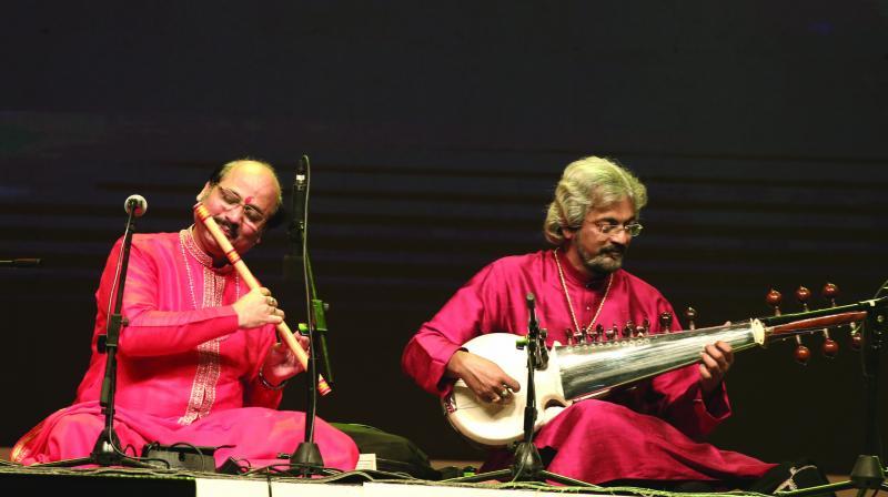 Pandit Ronu Mazumdar and  Pandit Debjyoti (Tony) Bose