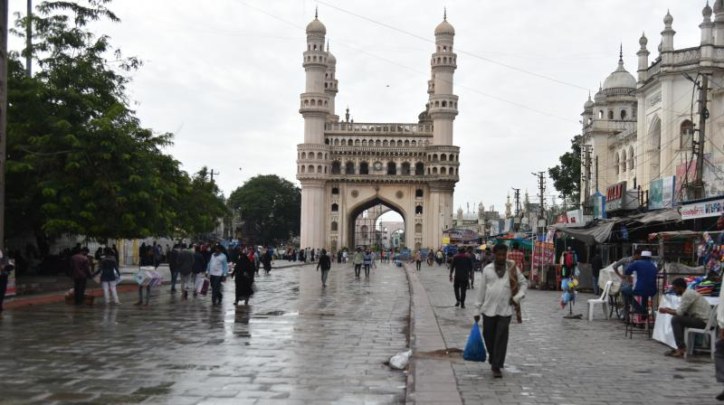 Every day, funeral processions are telecast on local cable TV channels in the Charminar area of the Old City.  (DC Photo: SSR)