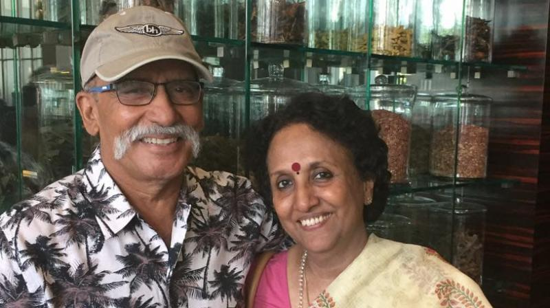 Air Commodore RM Sreedharan with Wife Gayathri