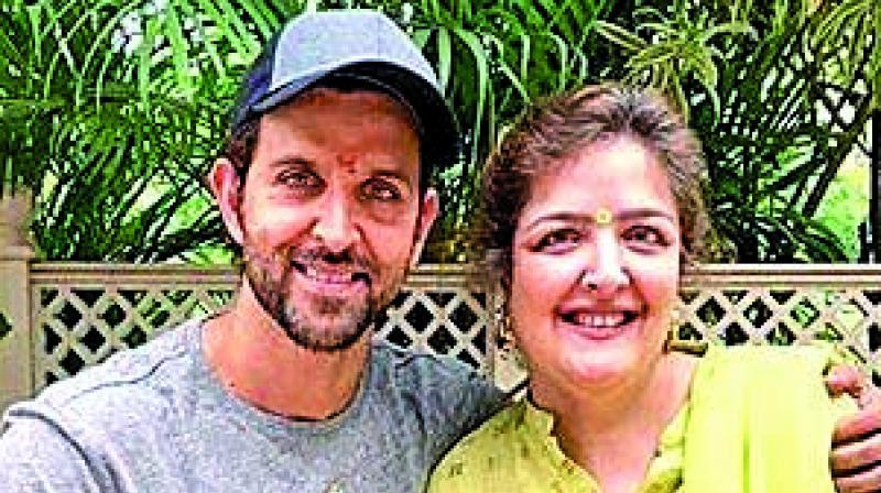 Hrithik Roshan with his sister Sunaina.
