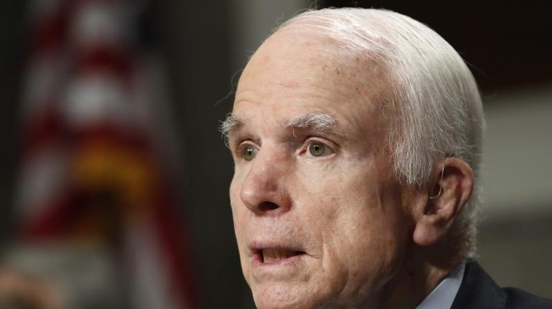 Mr McCain is chairman of the powerful Senate Armed Services Committee and legislative moves by him always get through the Congress. (Photo: AP)