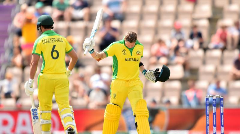 Smith hit eight fours and three sixes in his 116 off 102 balls before he was caught and bowled by Tom Curran in the final over. (Photo:AFP)