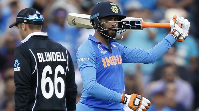 Ravindra Jadeja dragged his team to 177 for the loss of nine before losing his wicket. (Photo:AFP)