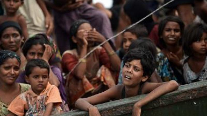 Nearly 700,000 Rohingya have fled their villages into Bangladesh since the Myanmar military's crackdown following Aug 25 attacks by Rohingya insurgents. (Photo: File/Representational)