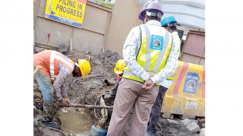 Metro works along the Western Express Highway are getting delayed due to utility lines, it has been claimed.