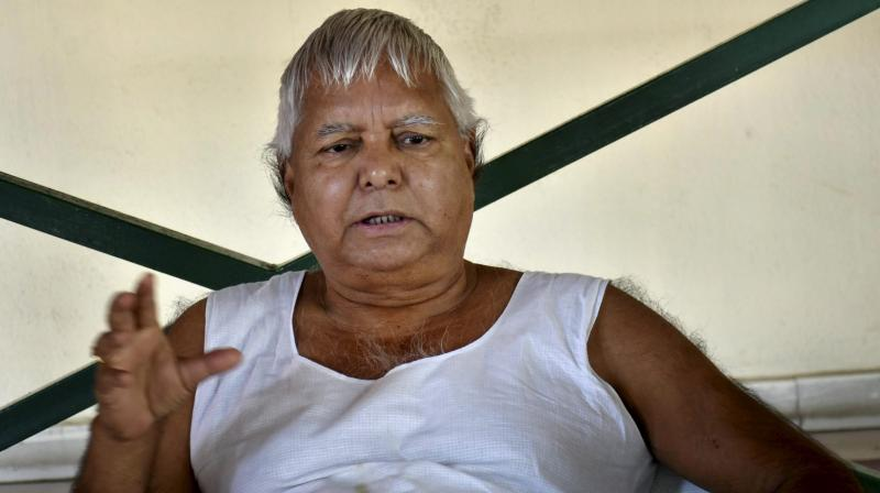 RJD chief Lalu Prasad Yadav. (Photo: AP)