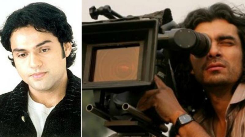 Abhay Deol in a still from 'Socha Na Tha'; Imtiaz Ali on a movie set.