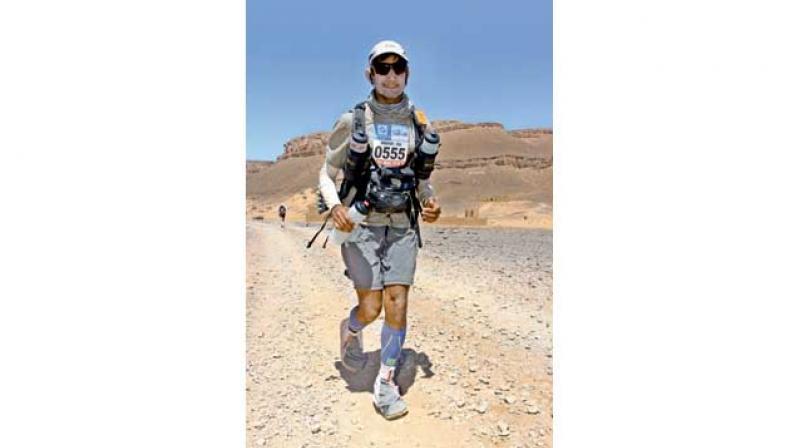 Sridhar Venkatesh during the epic Marathon of Sands