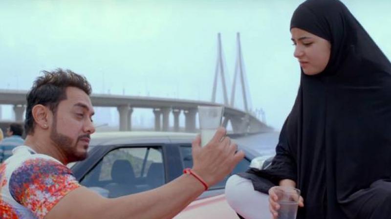 Aamir Khan plays a music composer while Zaira Wasim plays a singer in 'Secret Superstar.'