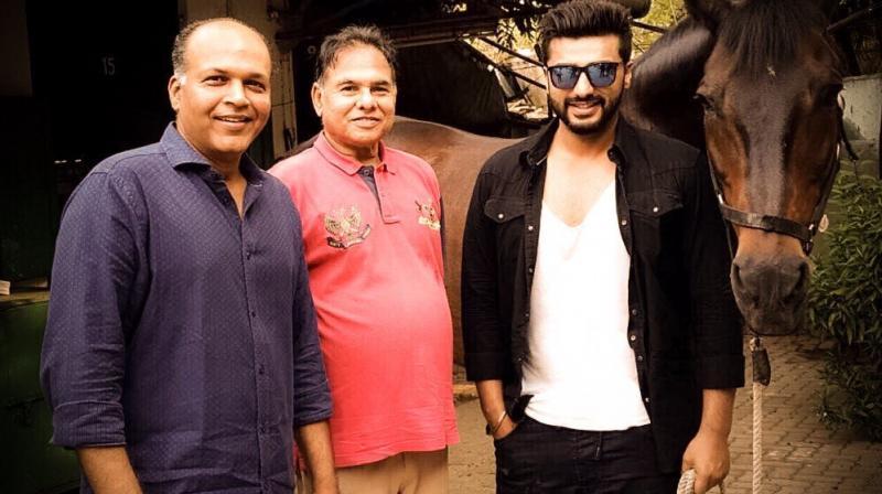 Ashutosh Gowariker with Arjun Kapoor while training for 'Panipat'.