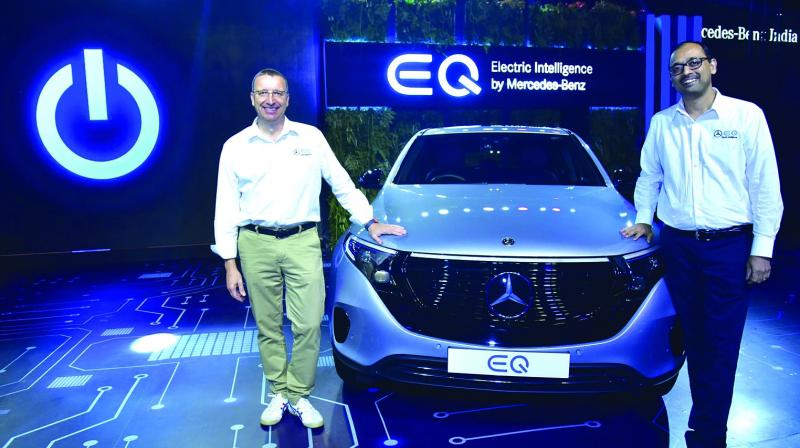 Martin Schwenk, MD & CEO, Mercedes-Benz India with 'EQ'.