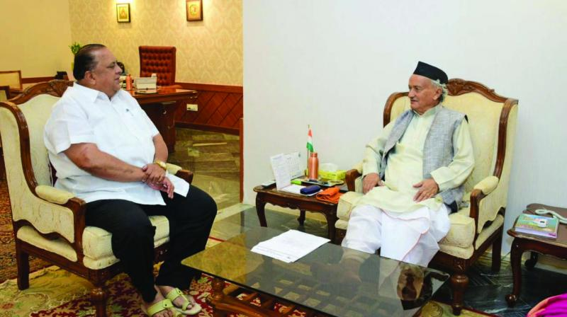 Hasan Mushrif met governor B.S. Koshyari on Tuesday.