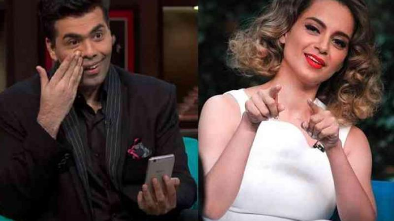 Karan Johar and Kangana Ranaut in 'Koffee with Karan.'