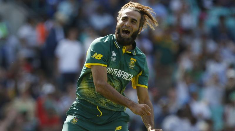 The 40-year-old will become only the second specialist spinner after Nicky Boje to achieve this feat. Tahir has been a spearhead of the Proteas' attack since making his debut at the 2011 World Cup on the sub-continent, with a career tally of 164 wickets at a strike-rate of 31. (Photo: AP)