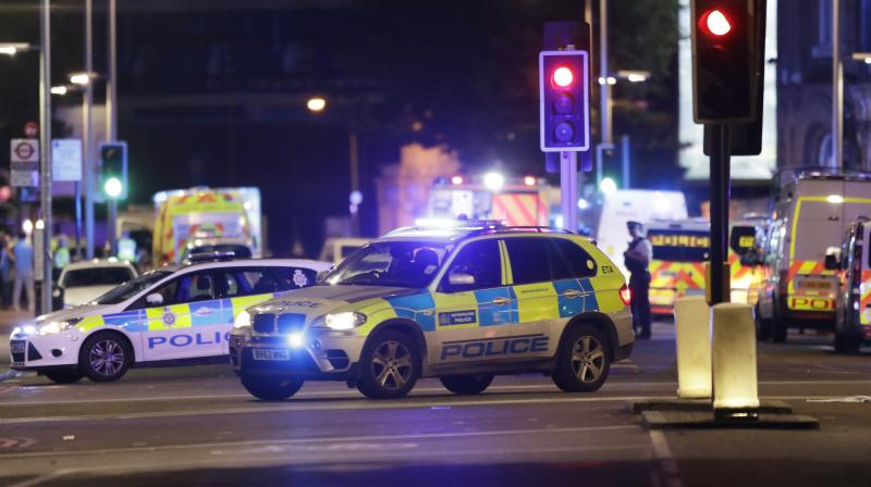 Police cars in the area of London Bridge after an incident in central London. (Photo: AP/File)