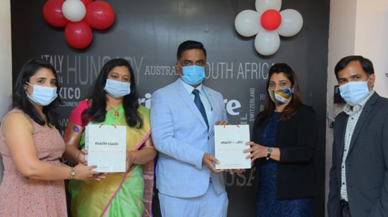 Launch program of French lifestyle brand Marie Claire Paris in Bangalore