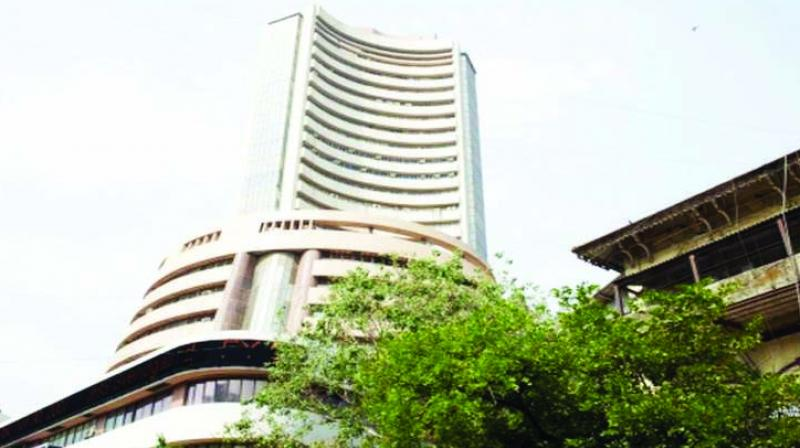 The Sensex touched a high of 42,273 points before profit booking set in after Kotak Mahindra Bank's third quarter results missed the Street's profit and revenue estimates.